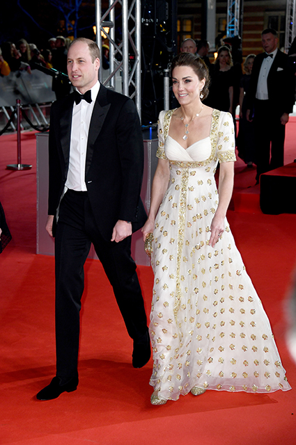 Prince William and Kate Middleton in Alexander McQueen Dress
