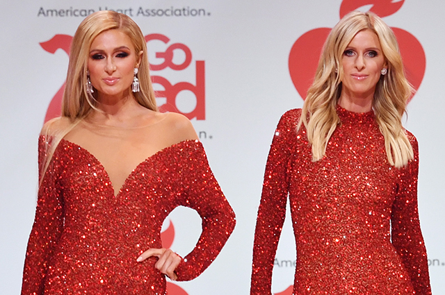 Paris and Nicky Hilton take part in a charity show in New York