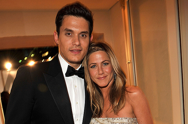 Jennifer Aniston and her ex-boyfriend John Mayer spent the evening in the same hotel