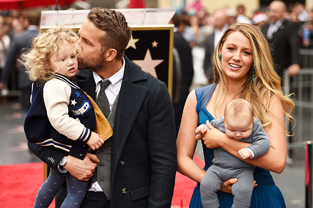Ryan Reynolds and Blake Lively with their daughters James and Ines