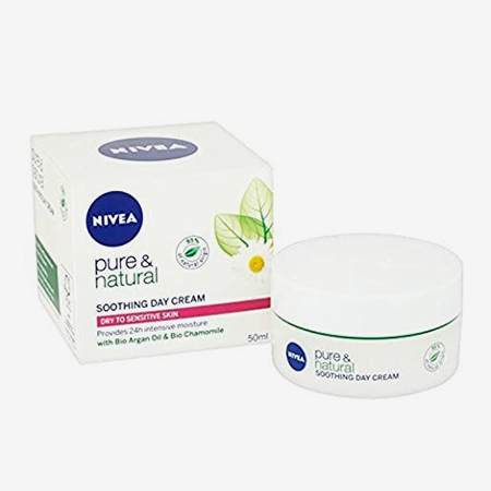 Крем Nivea Pure & Natural Day Cream Dry & Sensitive
