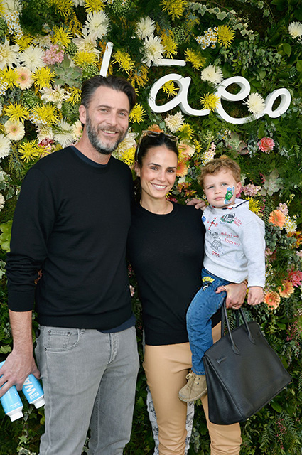 Andrew Form and Jordan Brewster with their son Rowan