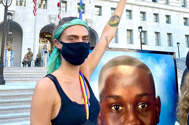 Cara Delevingne, Kaya Gerber, Brad Pitt and other stars joined anti-racist protests in the US
