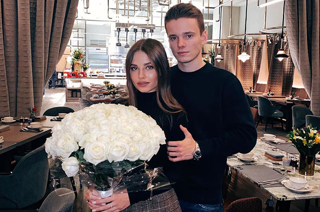 Valeria's 21-year-old son Arseny Shulgin announced his engagement