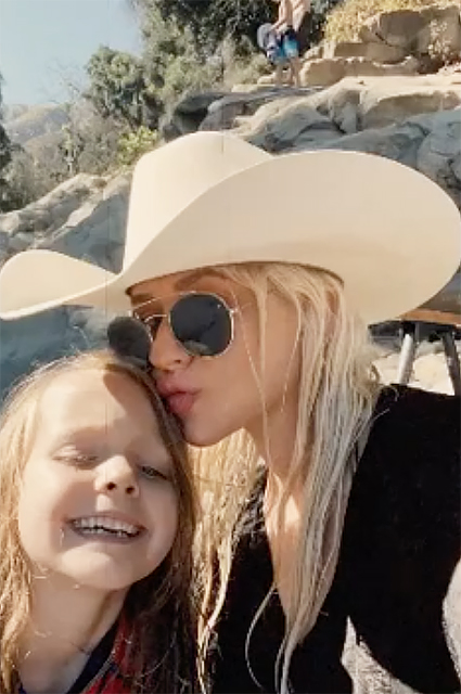 Christina Aguilera with her daughter Summer