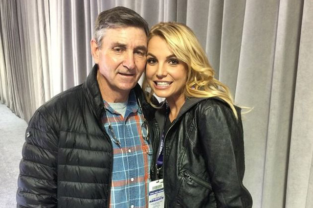 Britney Spears with her father Jamie