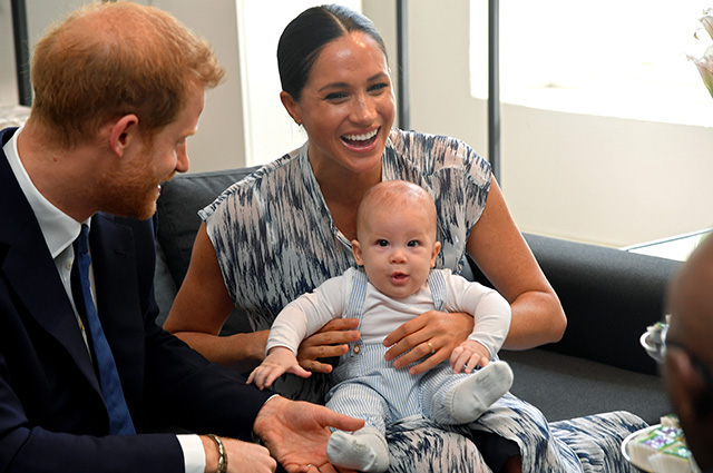 Prince Harry and Meghan Markle with their son Archie