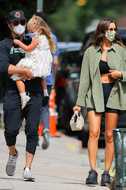 Bradley Cooper and Irina Shayk with their daughter Leia