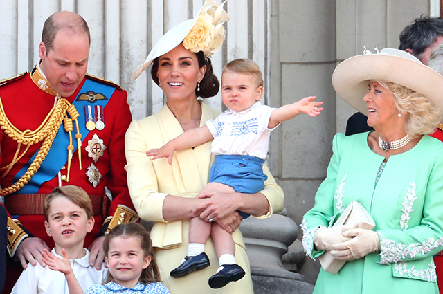 Prince William and Kate Middleton with children, Duchess Camilla