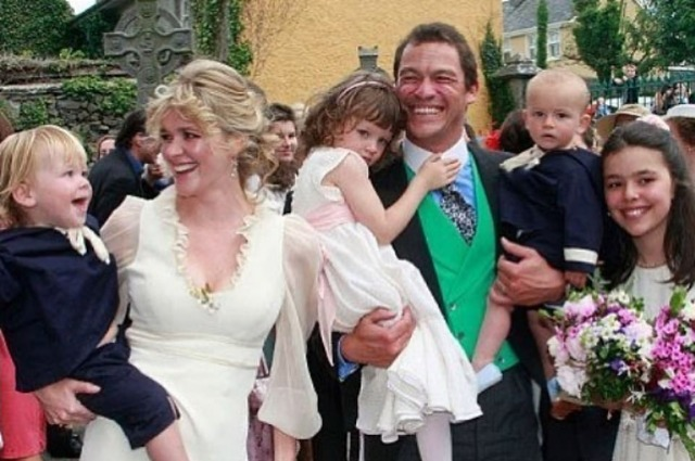 Catherine Fitzgerald and Dominic West with family