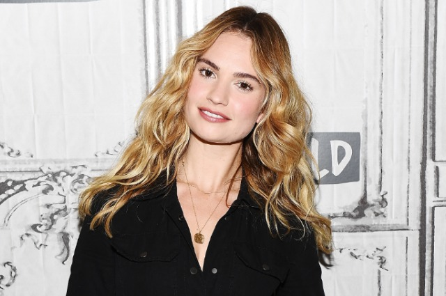 "Lily James, who is suspected of having an affair with a married actor, gave an interview: ""It"