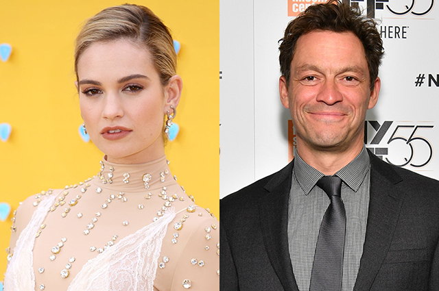 Lily James caught kissing married Lovers star Dominic West