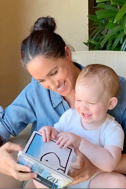 Meghan Markle with her son Archie