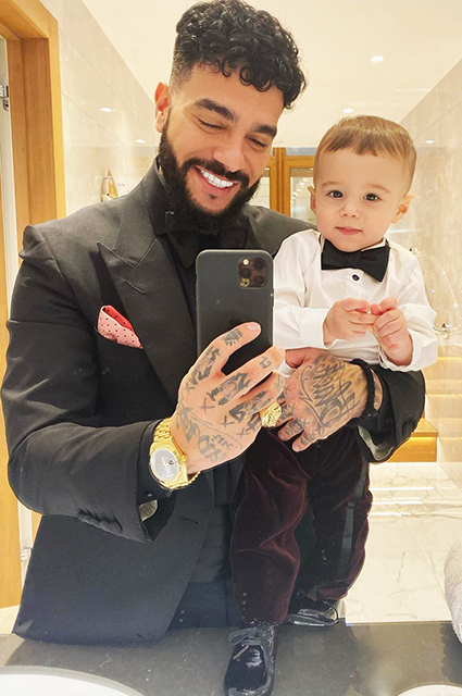 Timati with his son Ratmir