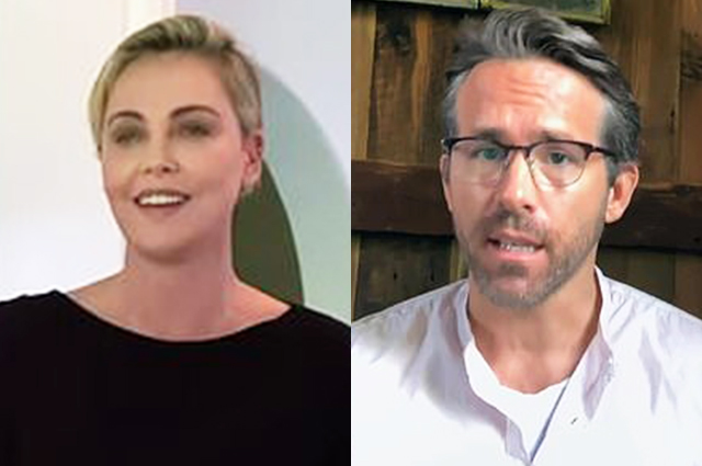 Charlize Theron, Ryan Reynolds others at the virtual ceremony Glamor's Women of the Year
