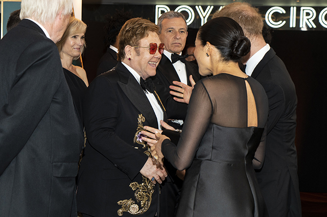 Elton John, Meghan Markle and Prince Harry