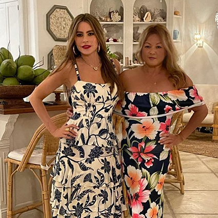 Sofia Vergara with a friend