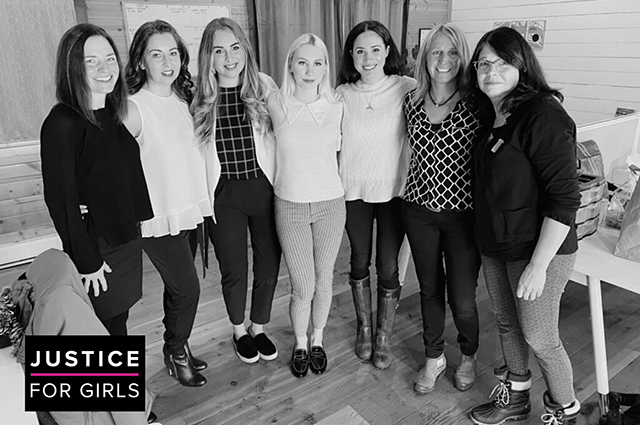 Meghan Markle with representatives of Justice for Girls