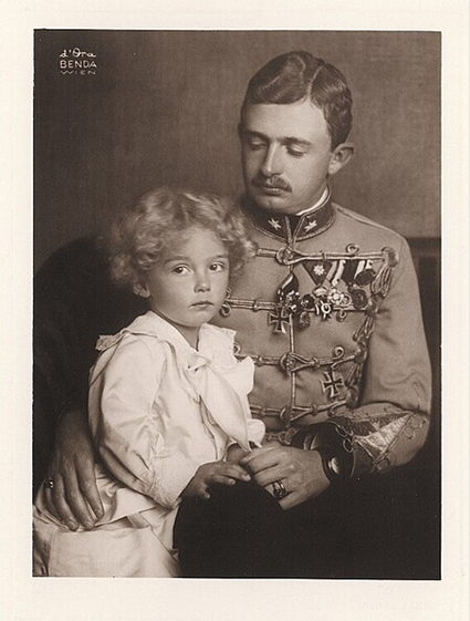Emperor Charles I with his son Otto, 1916