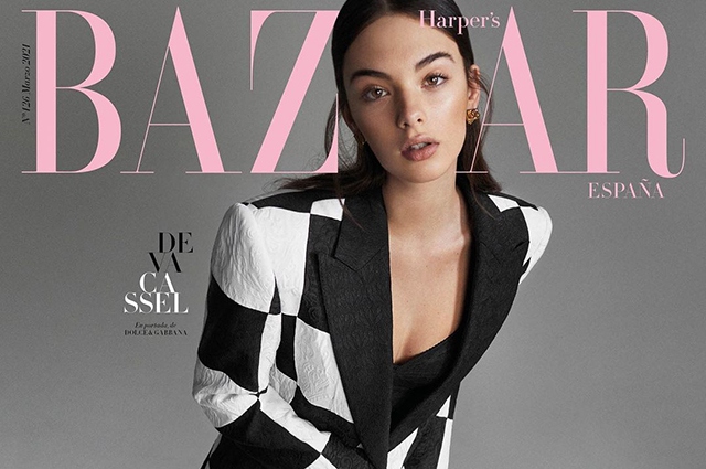 The daughter of Monica Bellucci and Vincent Cassel Deva posed for the cover of a Spanish fashion magazine