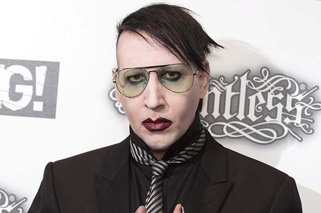 The police are interested in allegations against Marilyn Manson and are interrogating one of his alleged victims