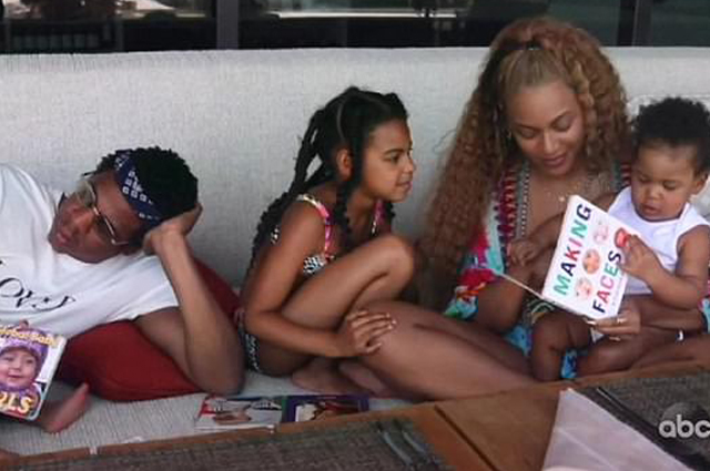 Jay-Z and Beyoncé with children