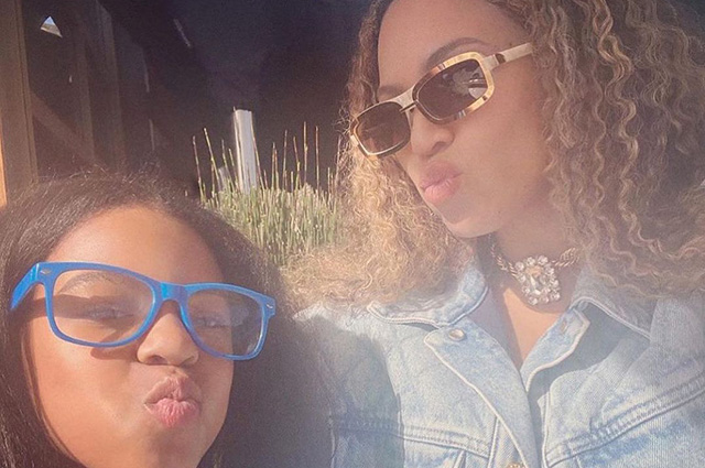 Beyoncé shared rare pictures with children
