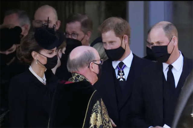 Tears of Kate Middleton, conversation of Princes William and Harry and other details of Prince Philip's funeral