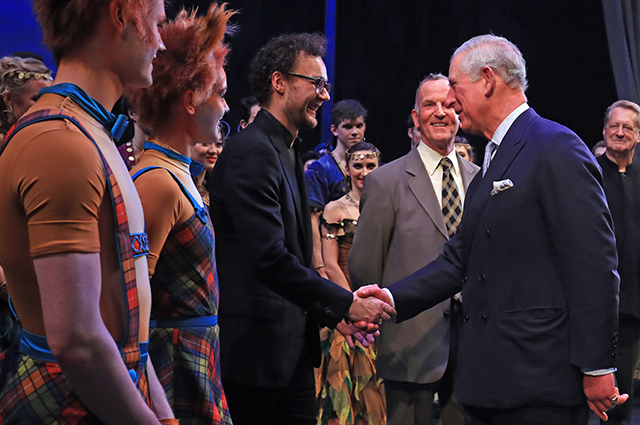Liam Scarlett and Prince Charles