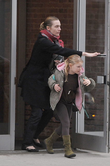 Kate Winslet with her little daughter Mia