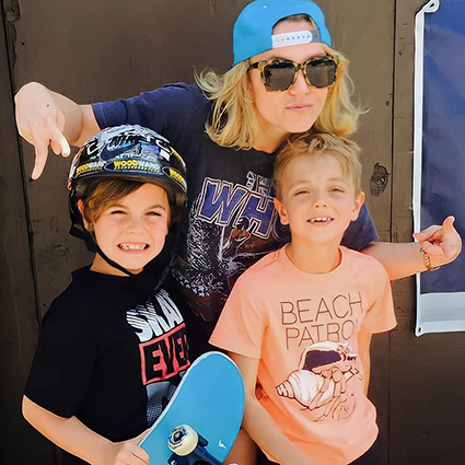 Britney Spears with little sons