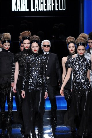 Karl Lagerfeld runway fall/winter 2010.