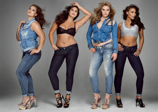 Normal/plus size models + fashion