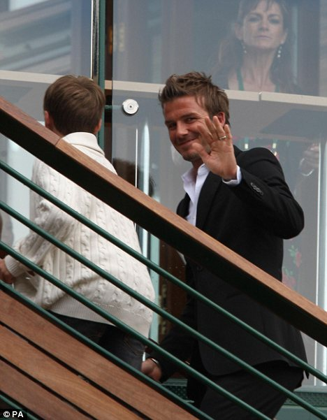 David Beckham at Wimbledon!