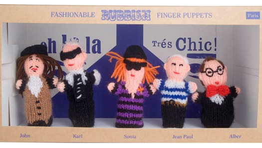 Fashion finger puppets