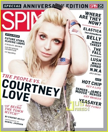 Courtney Love на обложке 'Spin' March 2010