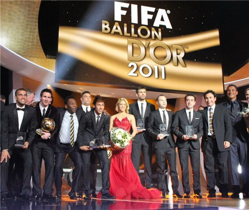 Шакира на FIFA Ballon d'Or ceremony