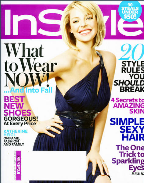 Katherine Heigl in InStyle US August 2009