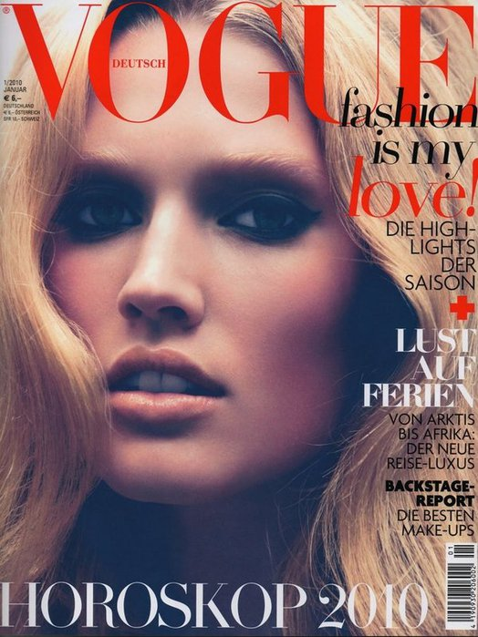 Toni Garrn for Vogue Germany January 2010