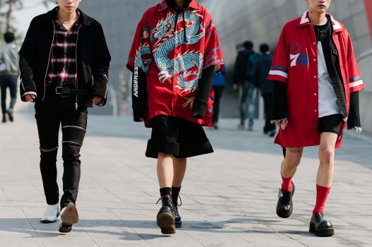 Chinese and korean street style