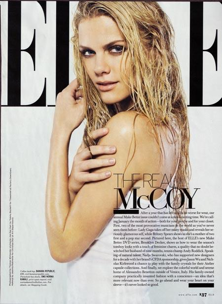Brooklyn Decker In The January 2010 Elle Magazine