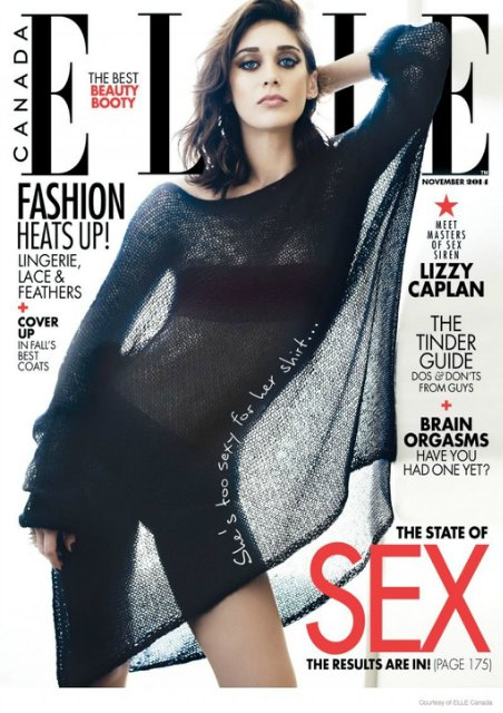 Lizzy Caplan – Elle Magazine (Canada) – November 2014 Issue