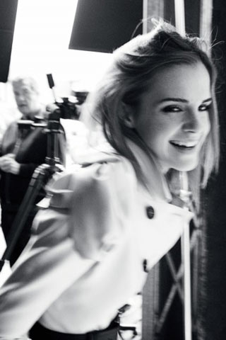 Mma Watson Burberry Campaign S/S10 - Behind the scene