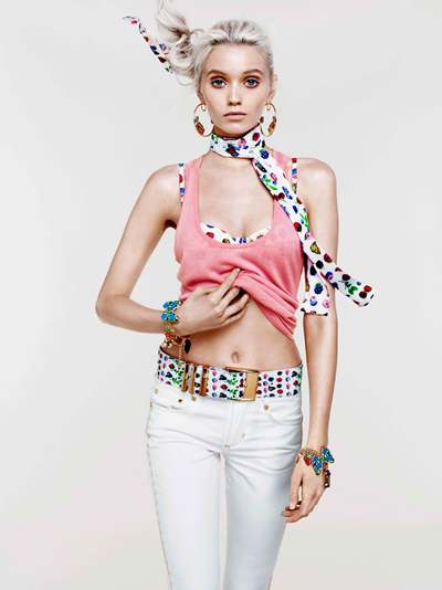 Abbey Lee Kershaw  для лукбука Versace for H&M Cruise2012