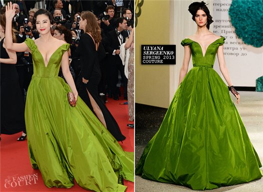 Zhang Yuqi in Ulyana Sergeenko Couture dress at Cannes Film Festival