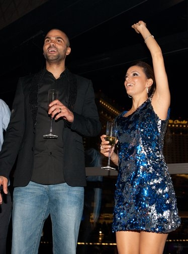 Longoria& Parker Ring in the New Year at Eve NIghtclub in Las Vegas