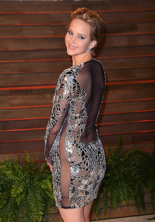 Дженнифер Лоуренс на Vanity Fair Oscars Party 2014