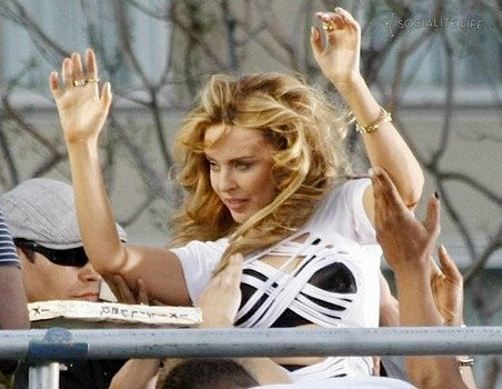 Kylie Minogue shoots her new music video...