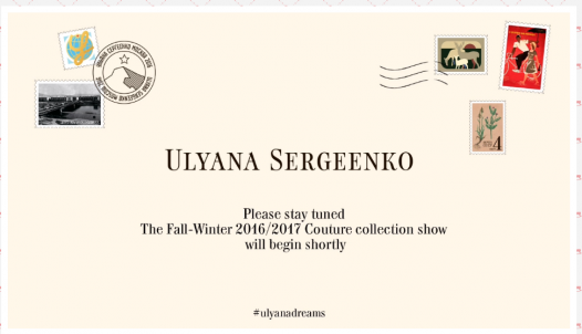 Ulyana Sergeenko Couture Fall-Winter 2016/2017