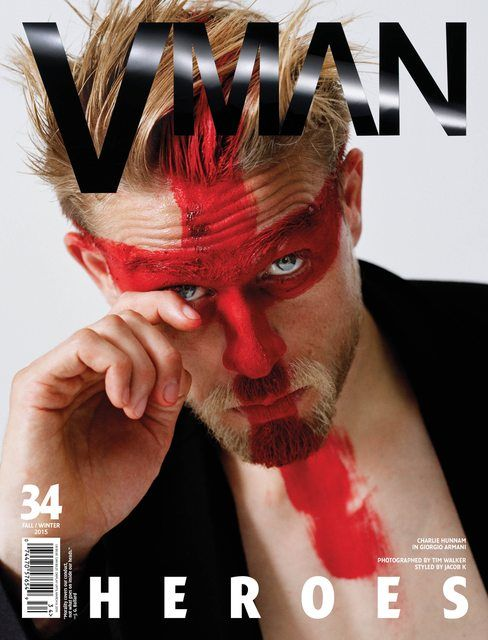 Чарли Ханнэм для VMan #34 Fall/Winter 2015